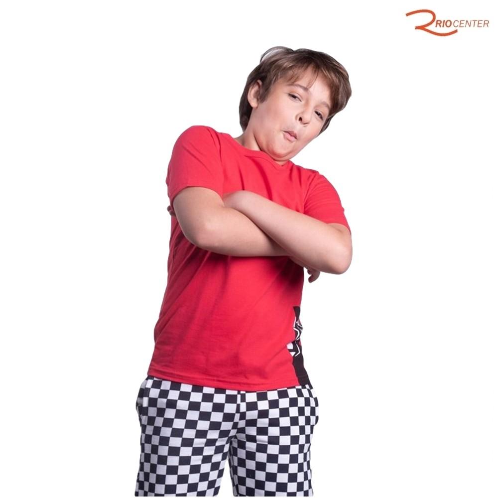 Camiseta Tigor T. Tigre Vermelha - Tam. 12 anos