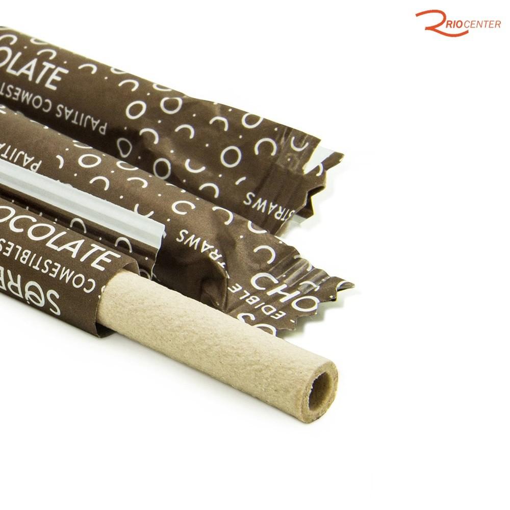 Canudo Comestível Sorbos Sabor Chocolate