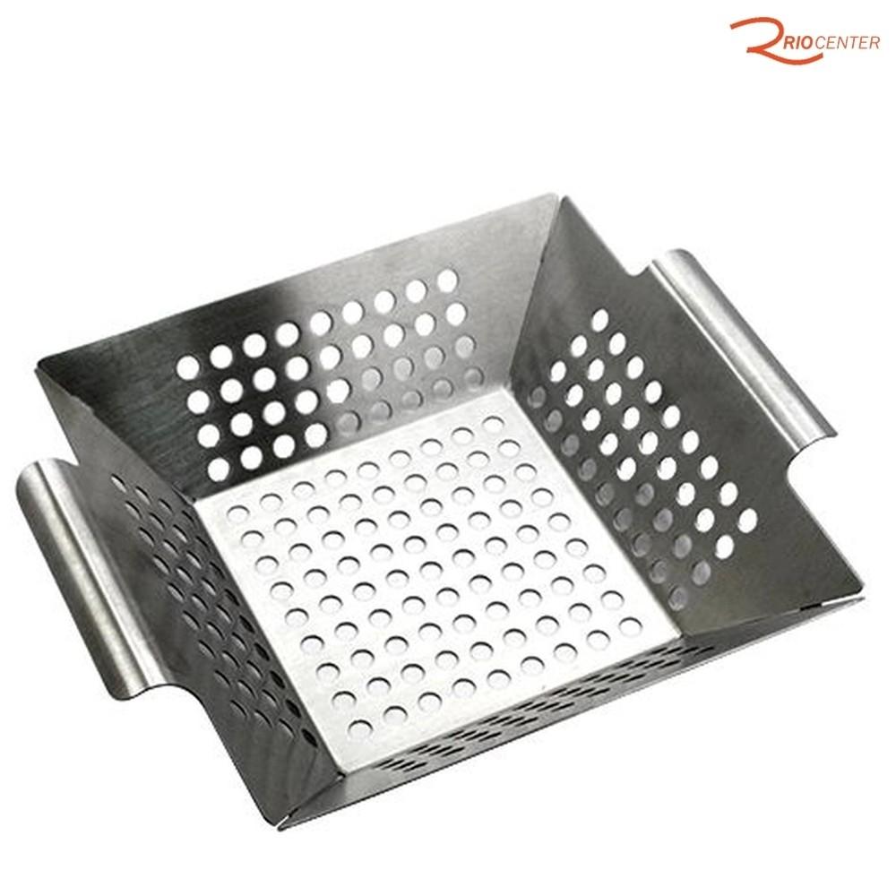 Cesta Grill Full Fit  para Grelhar Easy Aço Inox