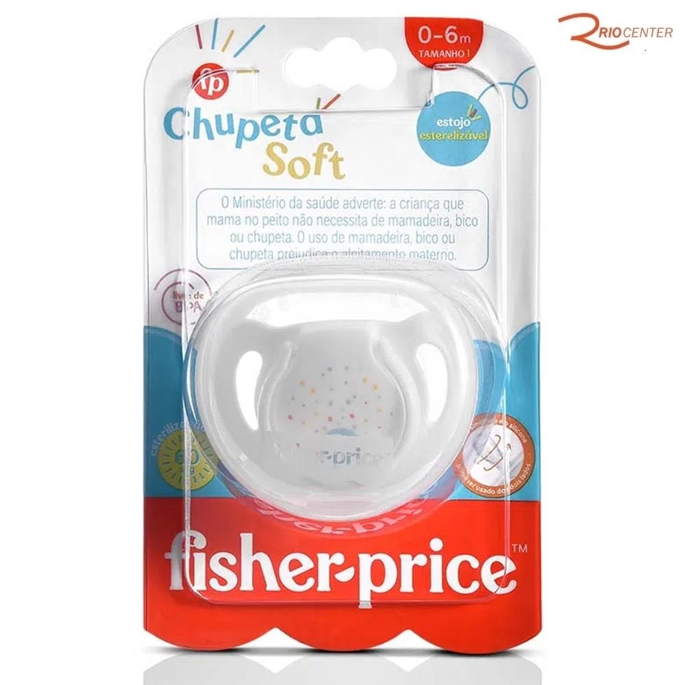 Chupeta Fisher-Price Soft Branca 0-6m