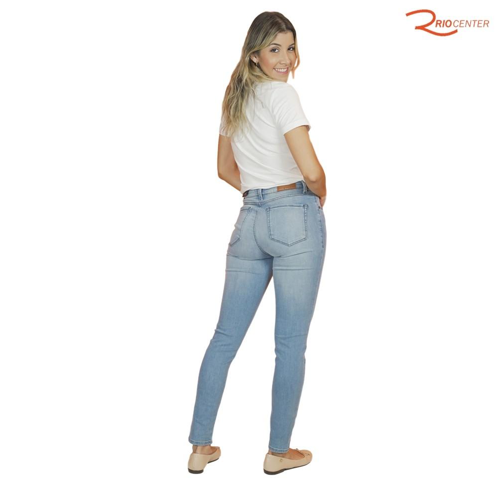 Cigarrete Jeans Dudalina Demi Curve Cintura Média