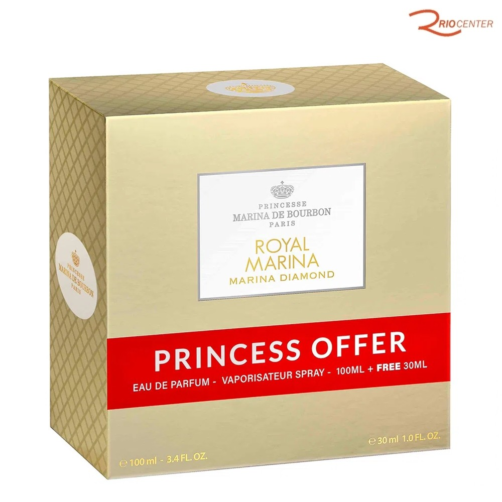 Coffet Eau de Parfum Marina Diamond Princesse Marina De Bourbon - 100ml + 30ml