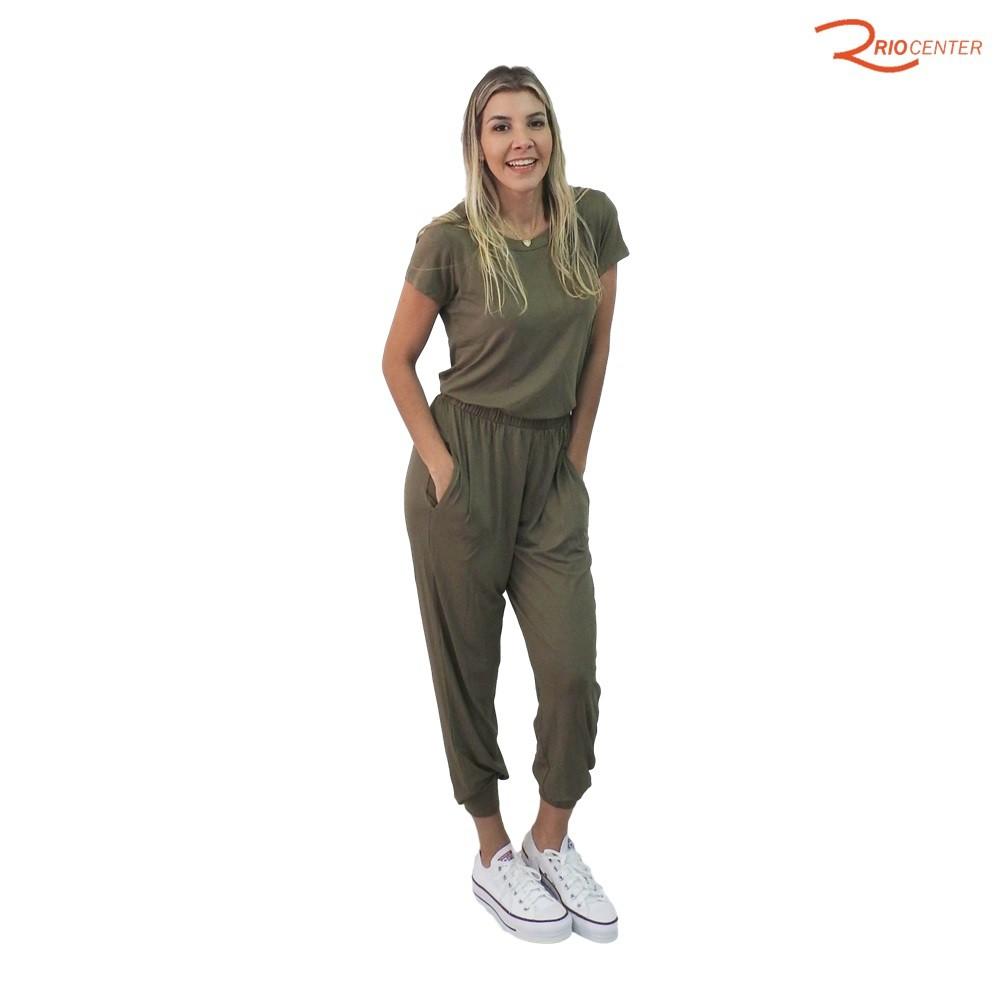 Conjunto Calça e Blusa Fragatta em Malha - Verde Pinho