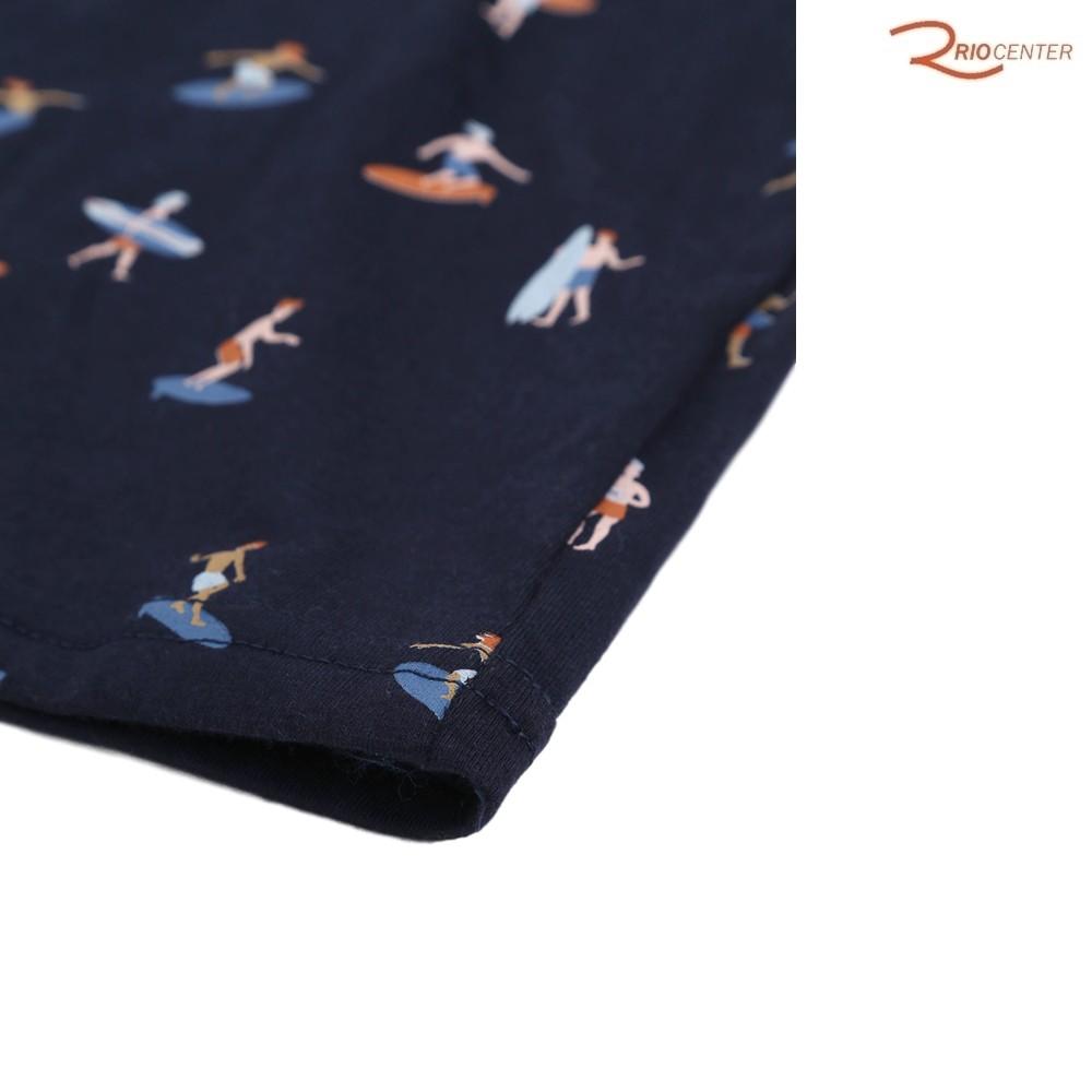 Conjunto Colorittá Curto Infantil Surf Azul Marinho/Caramelo