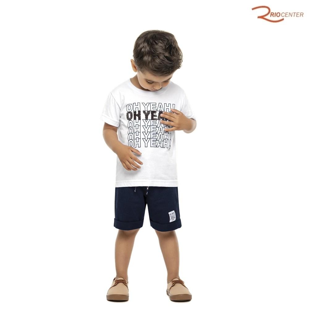 Conjunto Colorittá Masculino Infantil Branco