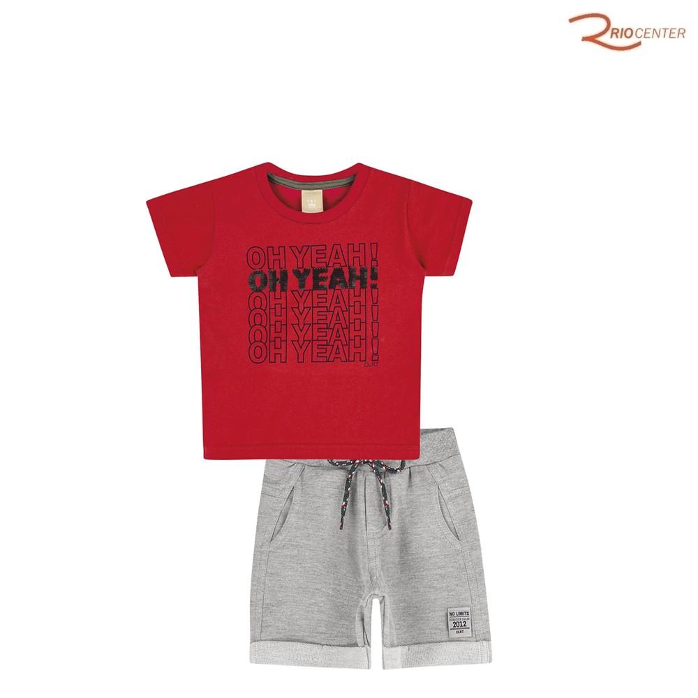 Conjunto Colorittá Masculino Infantil Vermelho