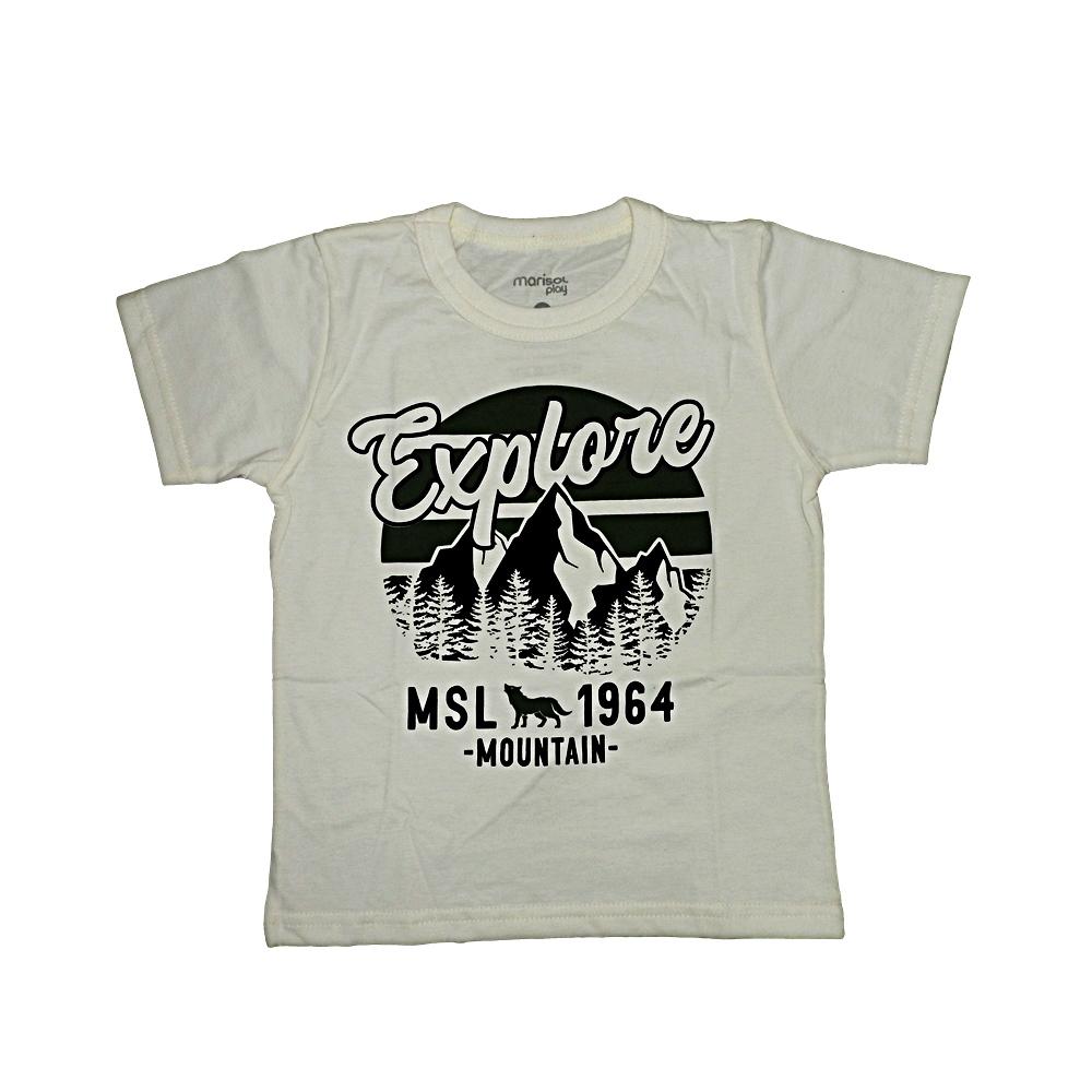 Camiseta Estampada Marisol Bege