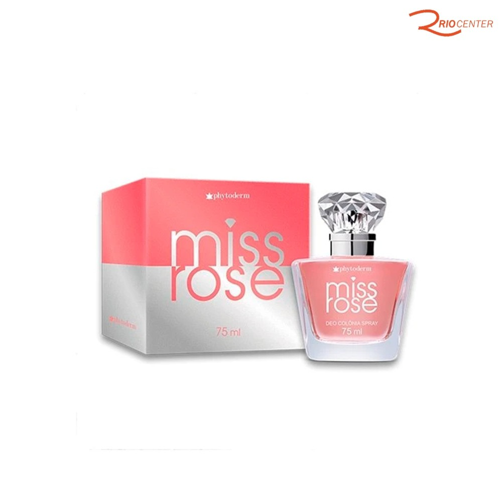 Deo Colônia Phytoderm Miss Rose - 75ml