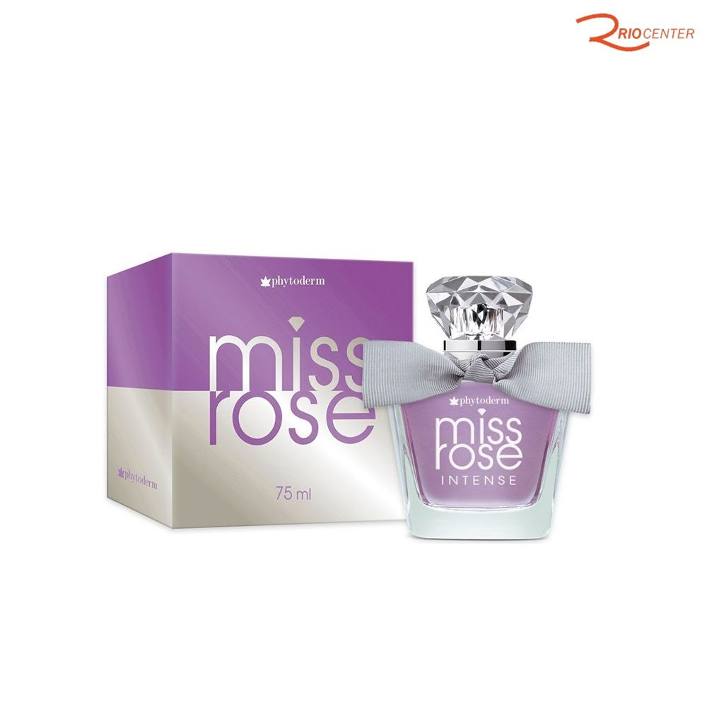 Deo Colônia Phytoderm Miss Rose Intense - 75ml
