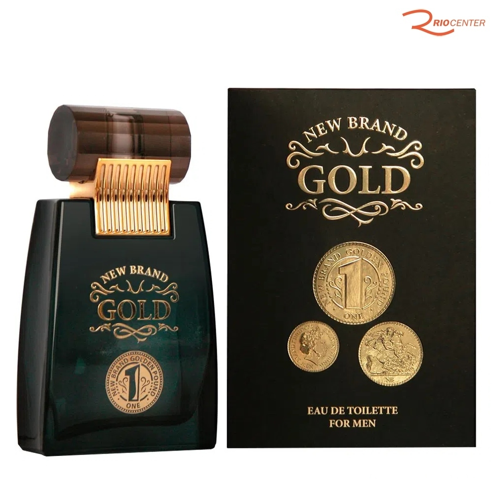 Eau de Toilette New Brand Gold For Men - 100ml