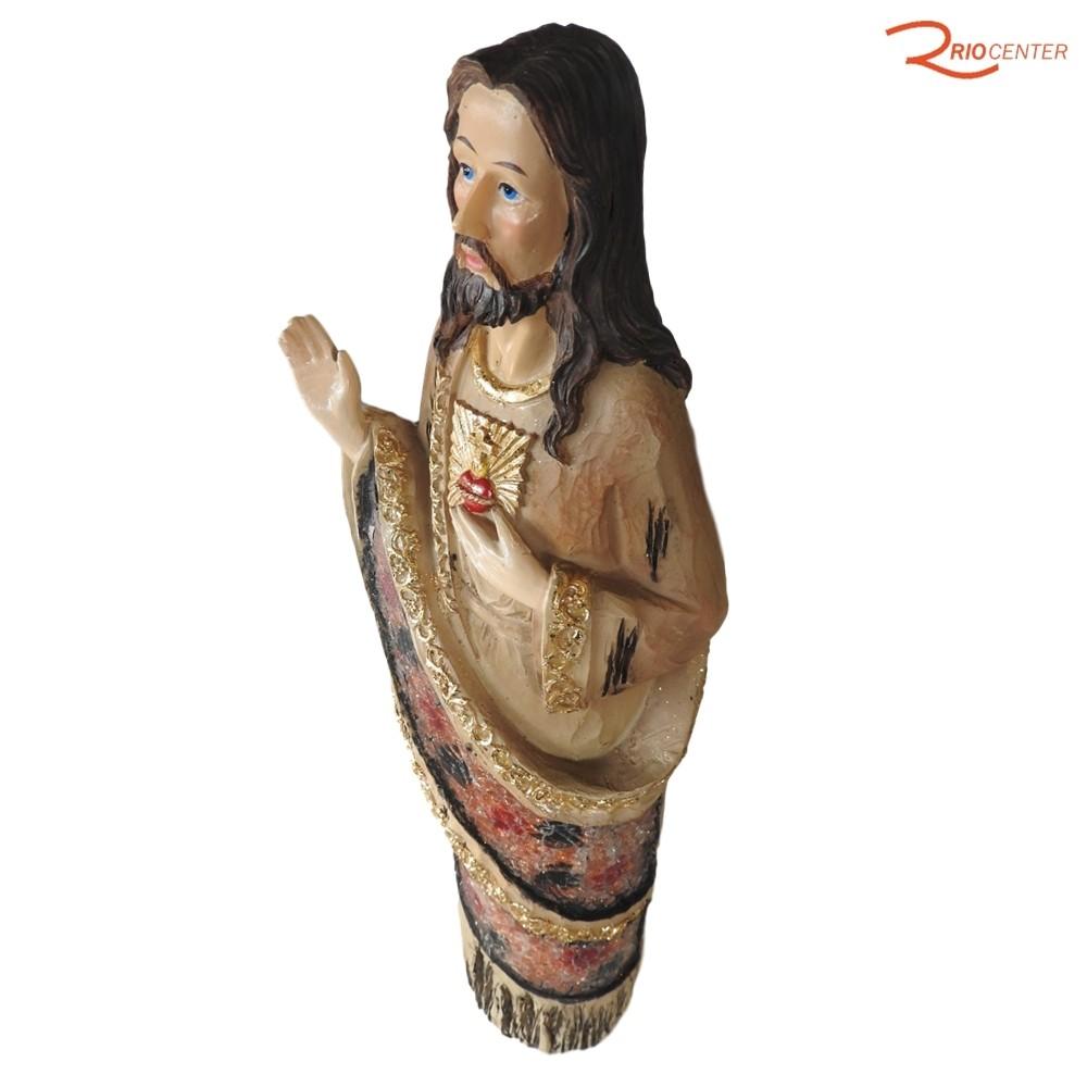 Escultura Carvalho Sagrado Coração de Jesus 30 cm