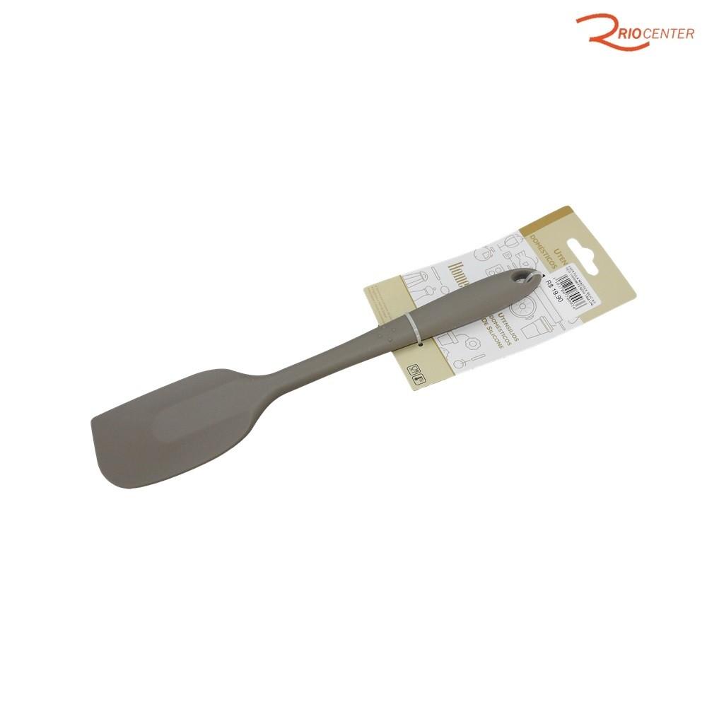 Espátula De Silicone HomeCook Arredondada 27 cm Niazitex Cinza