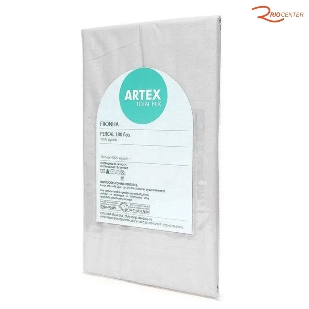 Fronha Artex Percal Total Mix Branco 50X70cm