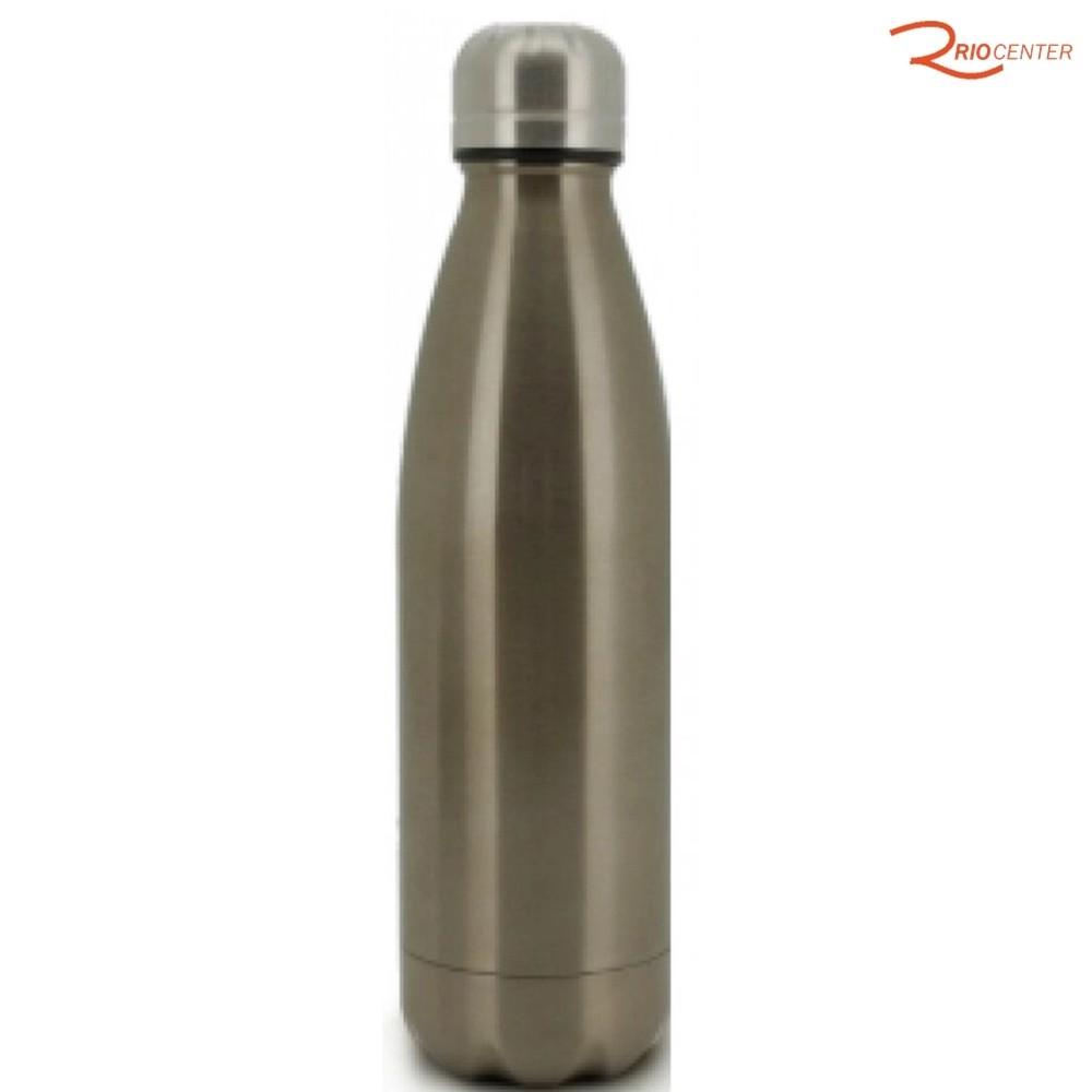 Garrafa Térmica Mimo Style Bronze com Parece Dupla Inox 500 Ml