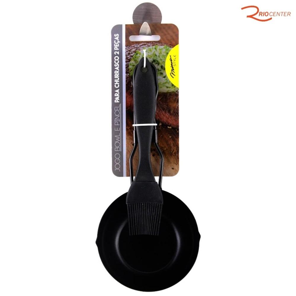 Jogo Mimo Style Bowl E Pincel Para Churrasqueira