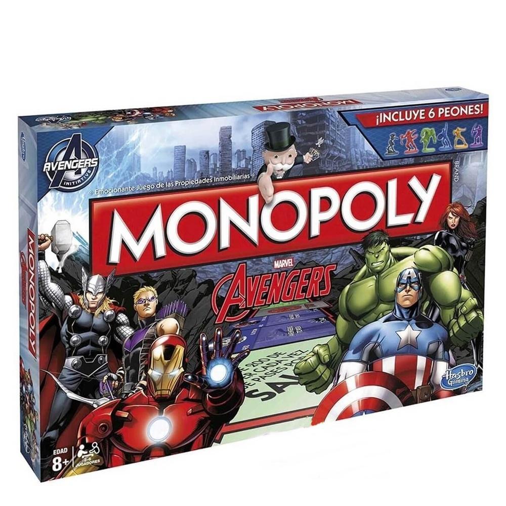 Jogo Monopoly Avengers Hasbro +8a