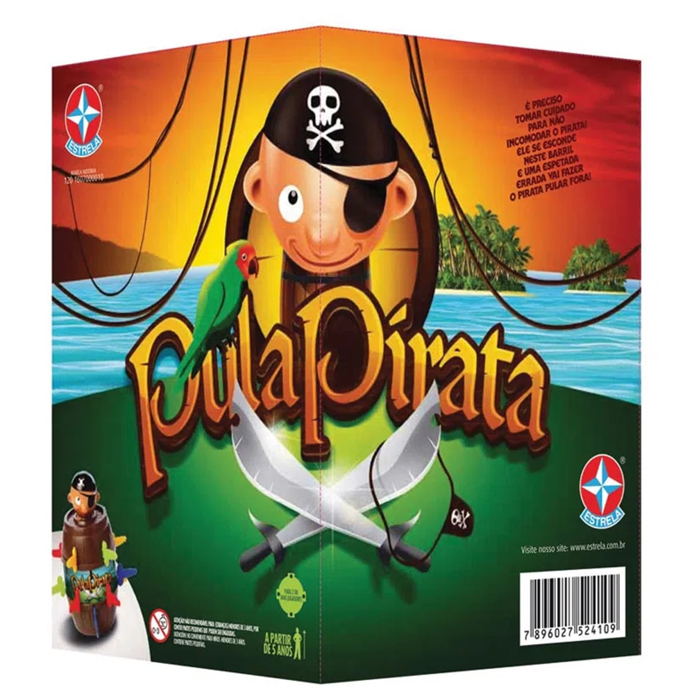 Jogo Pula Pirata Estrela +5a