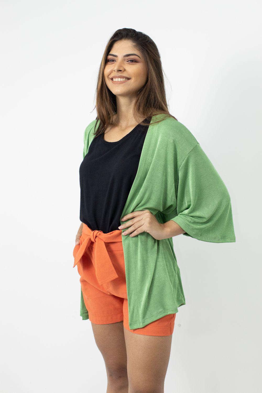 Kimono de Malha Gule Gule Verde