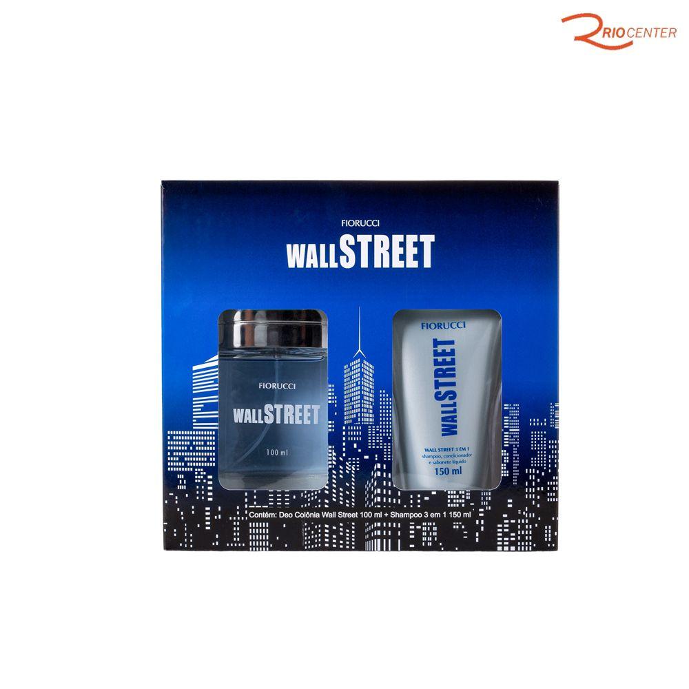 Kit Deo Colônia Fiorucci Wall Street 100ml + Shampoo 3 em 1