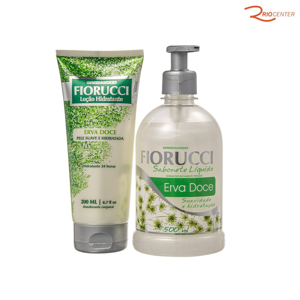 Kit Fiorucci Erva Doce Sabonete Liquido 500ml + Loção Hidratante 200ml