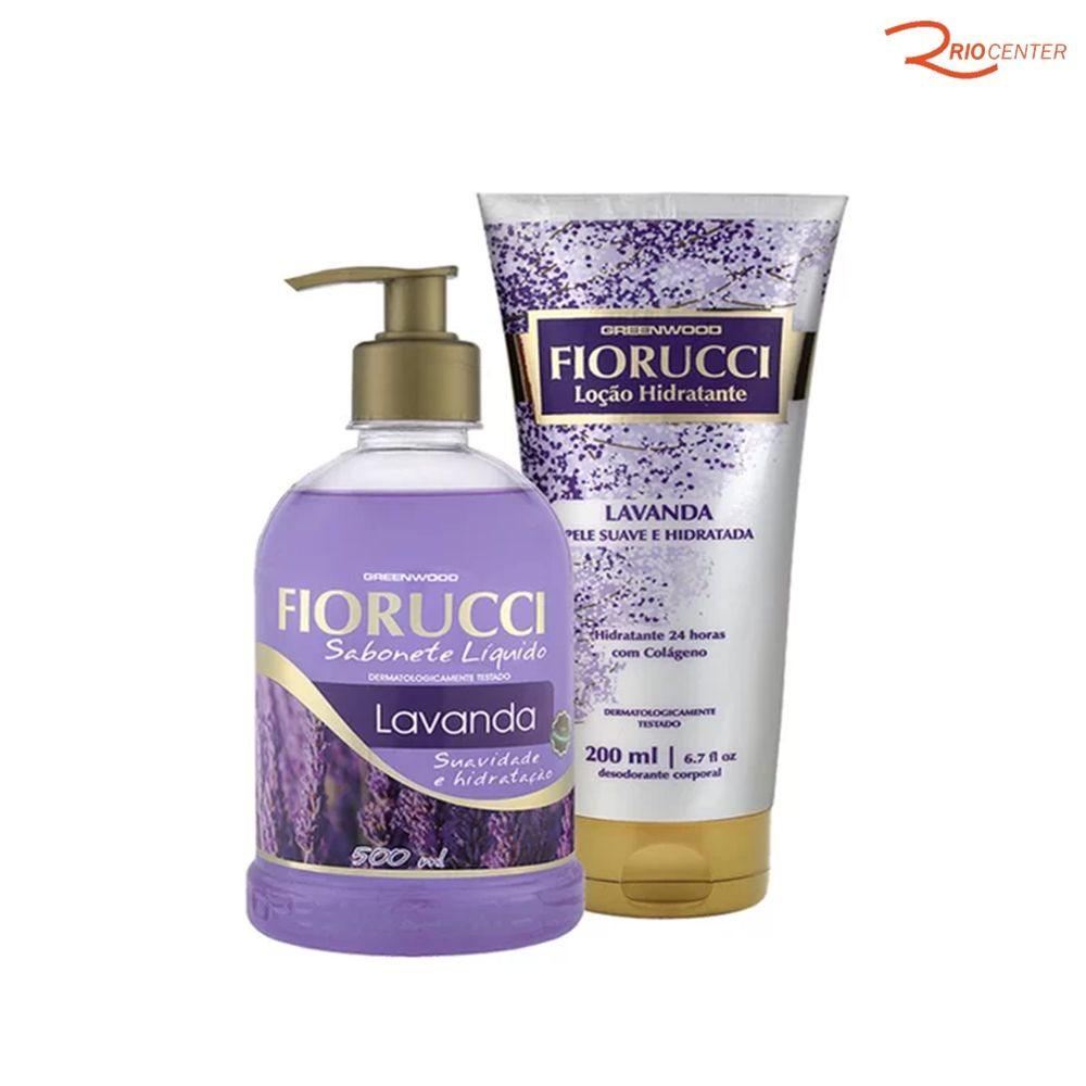 Kit Fiorucci Lavanda Sabonete Liquido 500ml + Loção Hidratante 200ml