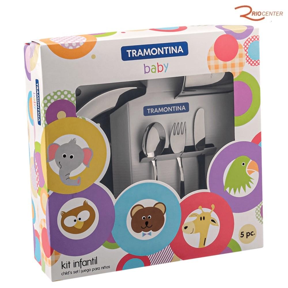Kit Infantil Tramontina para Refeição Inox 5 Peças