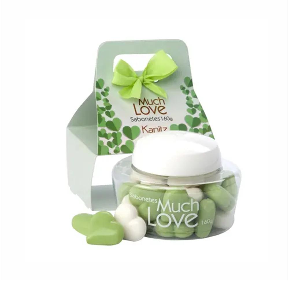 Kit Mini Sabonete Love Coração Kanitz Green