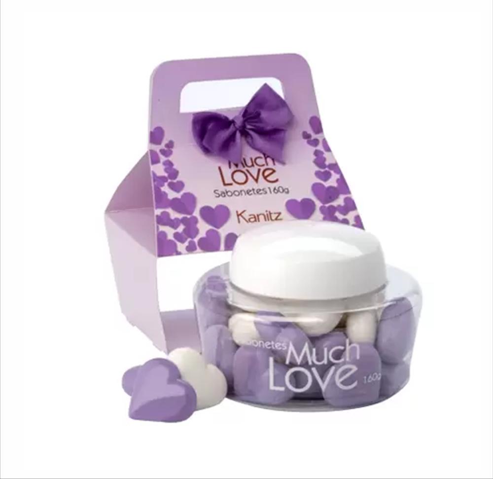 Kit Mini Sabonete Love Coração Kanitz Lilac