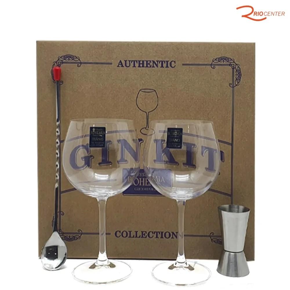Kit Para Gin Bohemia 4 peças Authentic Collection