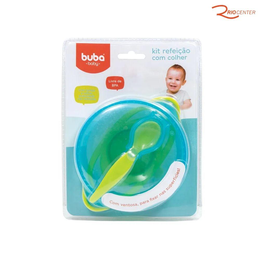 Kit Refeição com Colher Buba Baby Azul