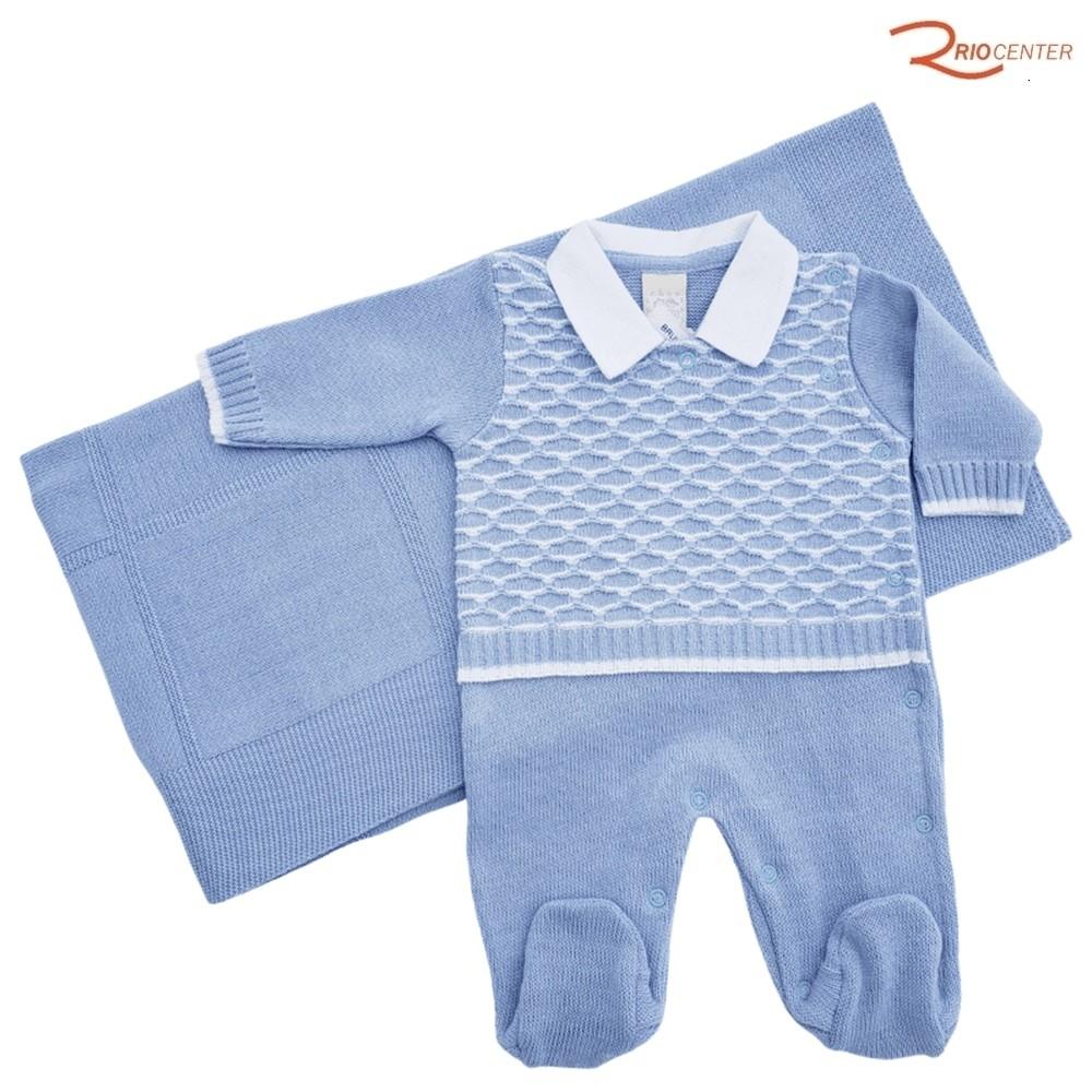 Kit Saída de Maternidade Milly Baby Azul