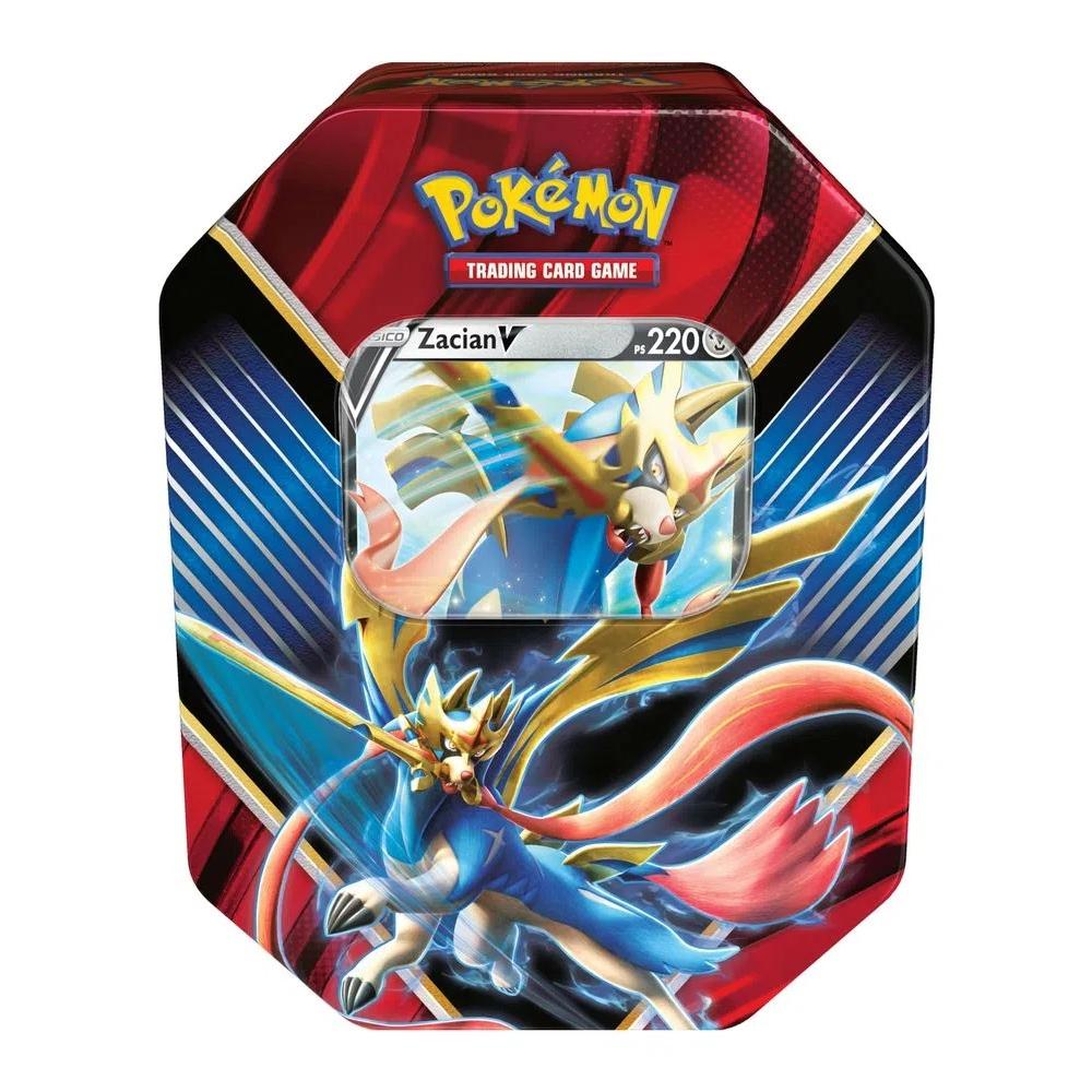 Lata com Cartas de Pokémon Lendas de Galar Copag +3a