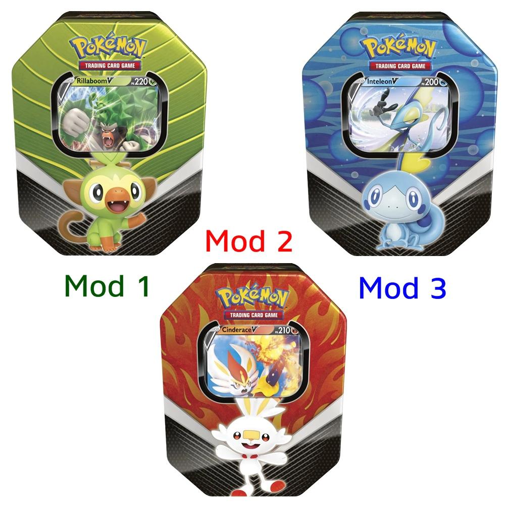 Lata com Cartas de Pokémon Parceiros de Galar Copag +3a