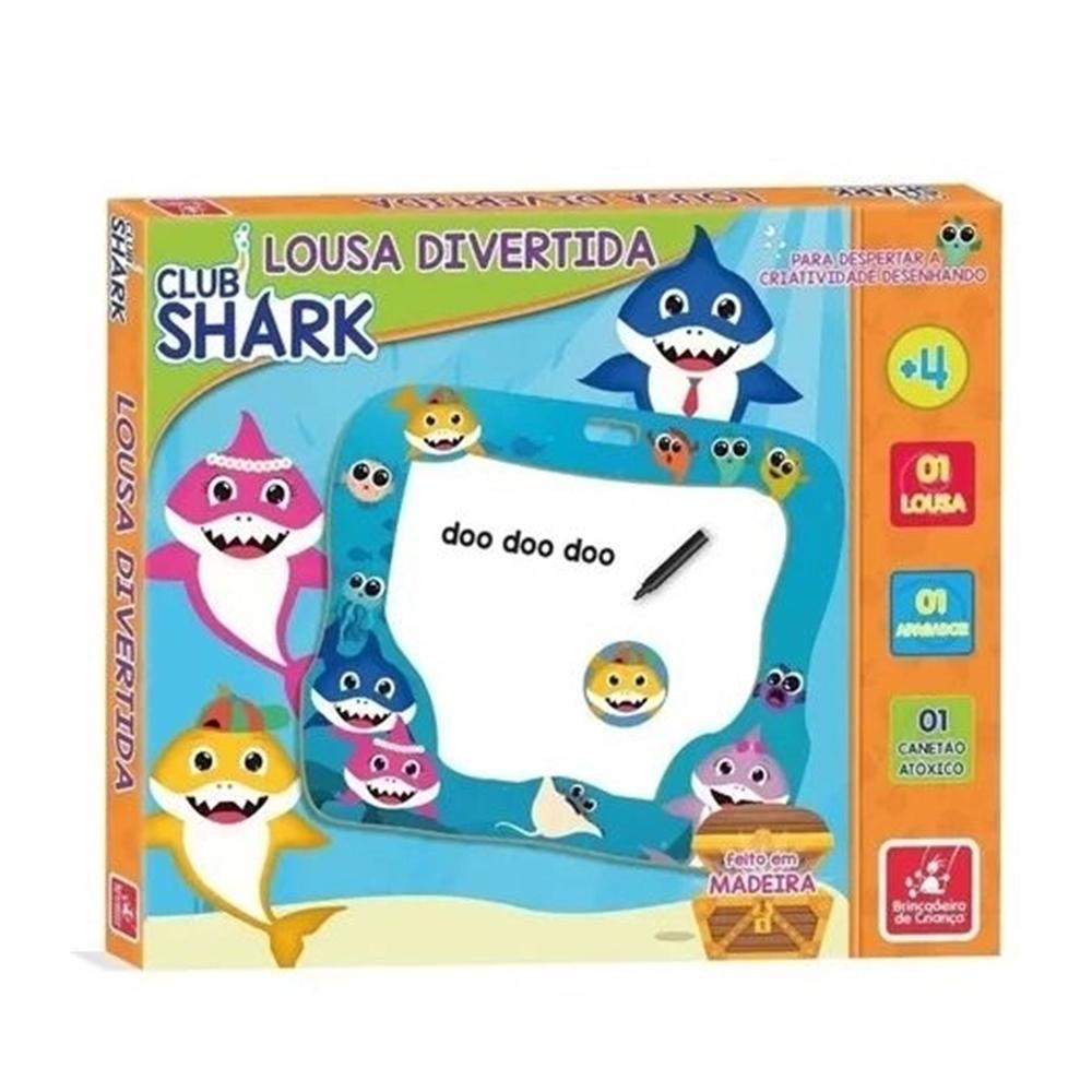 Lousa Divertida Club Shark Bricadeira de Criança +4a