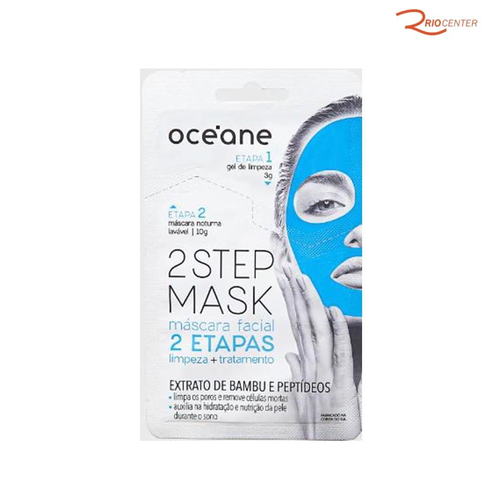 Máscara Facial Dual Step Com Extrato de Bambu e Peptídeos Oce'ane