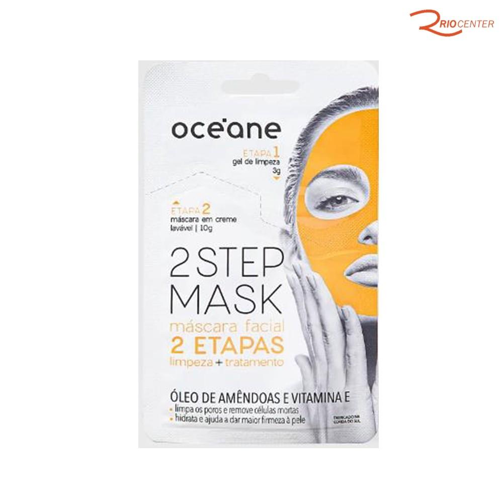 Máscara Facial Dual Step Com Óleo de Amêndoa e Vitamina E Oce'ane