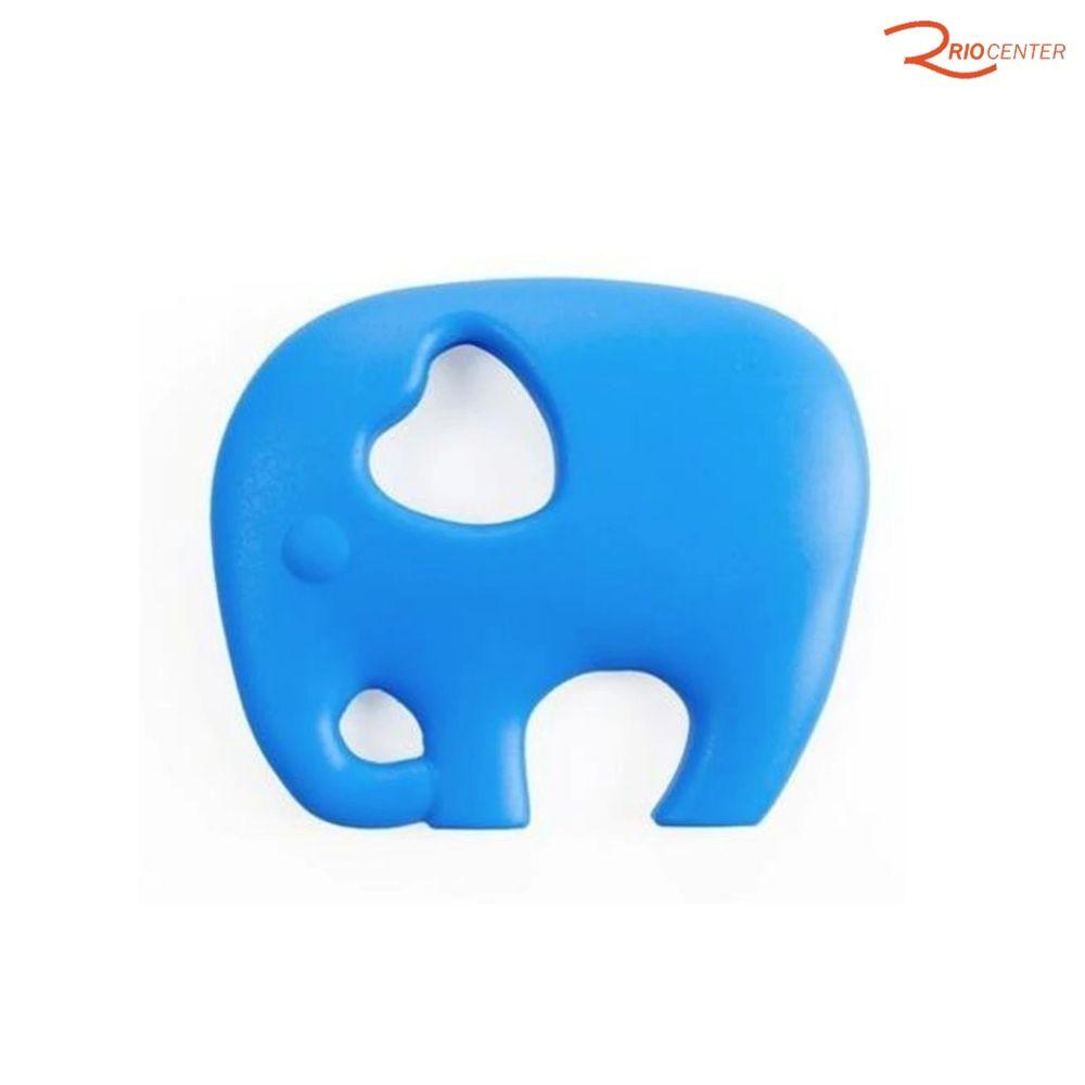 Mordedor de Silicone Elefantinho Buba Baby Azul