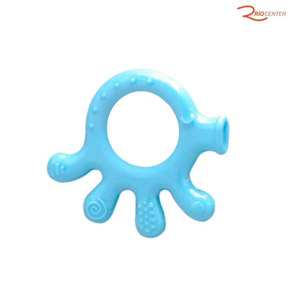 Mordedor de Silicone Polvinho Buba Baby Azul