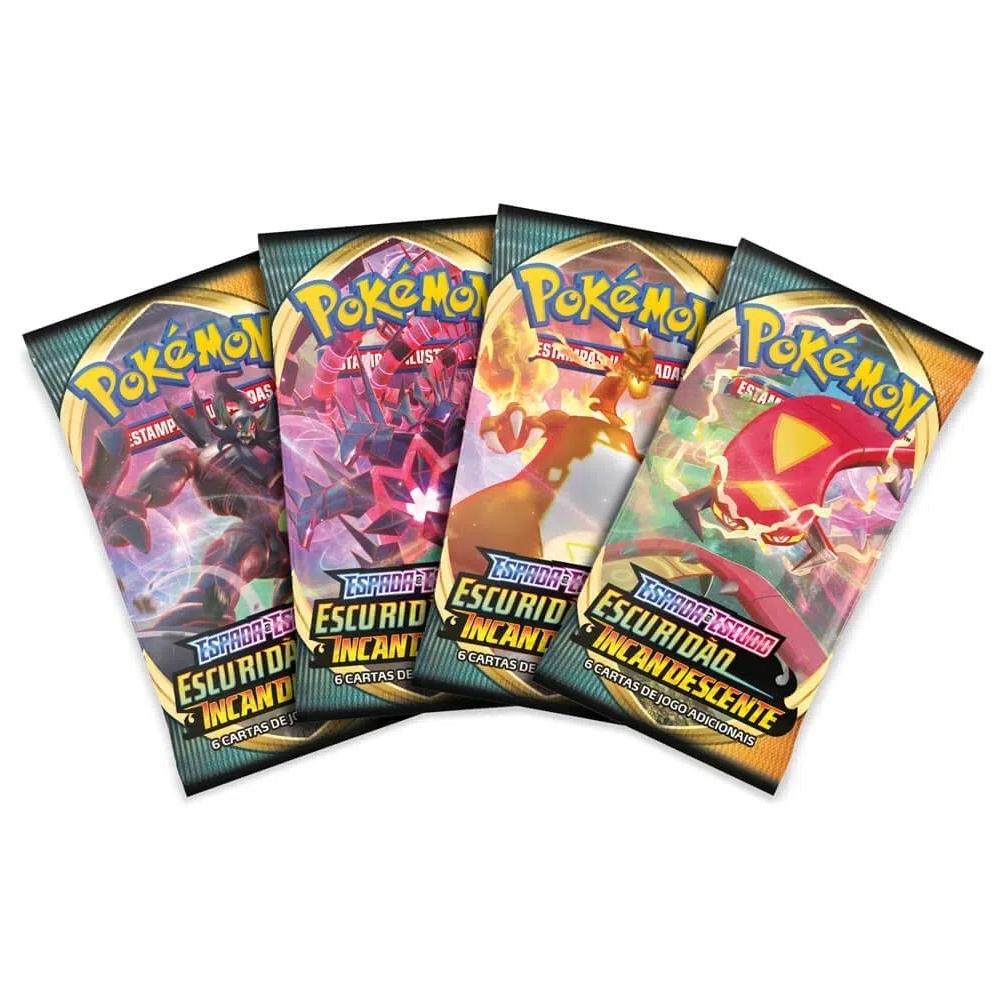 Pacote de Cartas Pokémon Espada e Escudo Escuridão Incandescente +4a