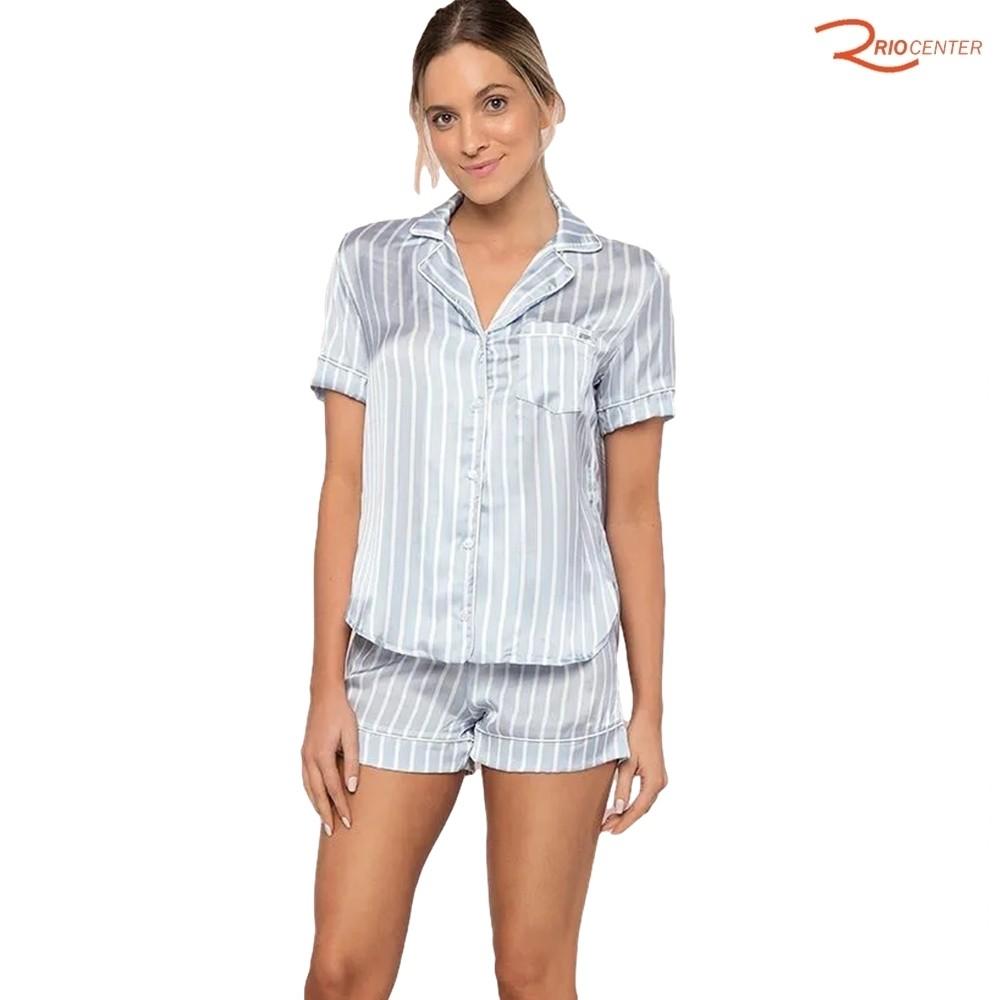 Pijama Lua Luá Aberto Classic Sky