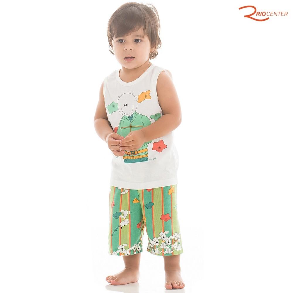 Pijama Sonhart Regata e Short Verde