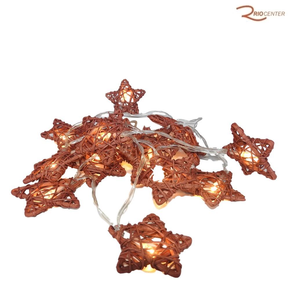 Pisca D&A Led 16 Peças Estrelas Com Pilha