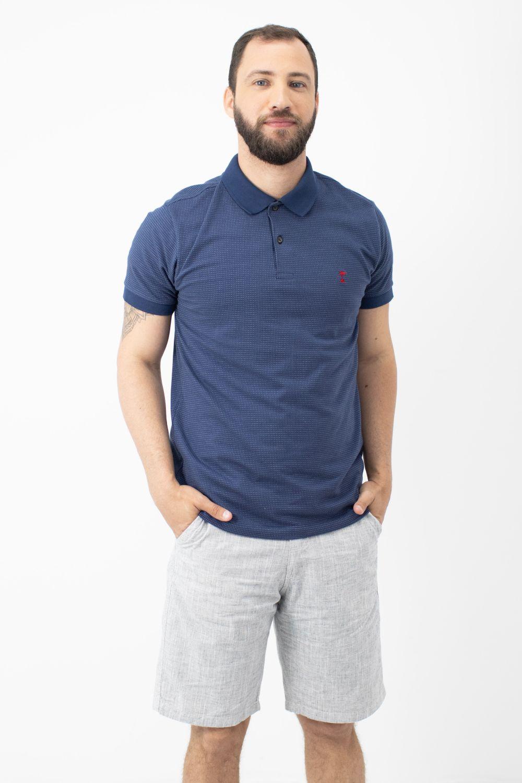 Polo Jacquard AD Premium Marinho