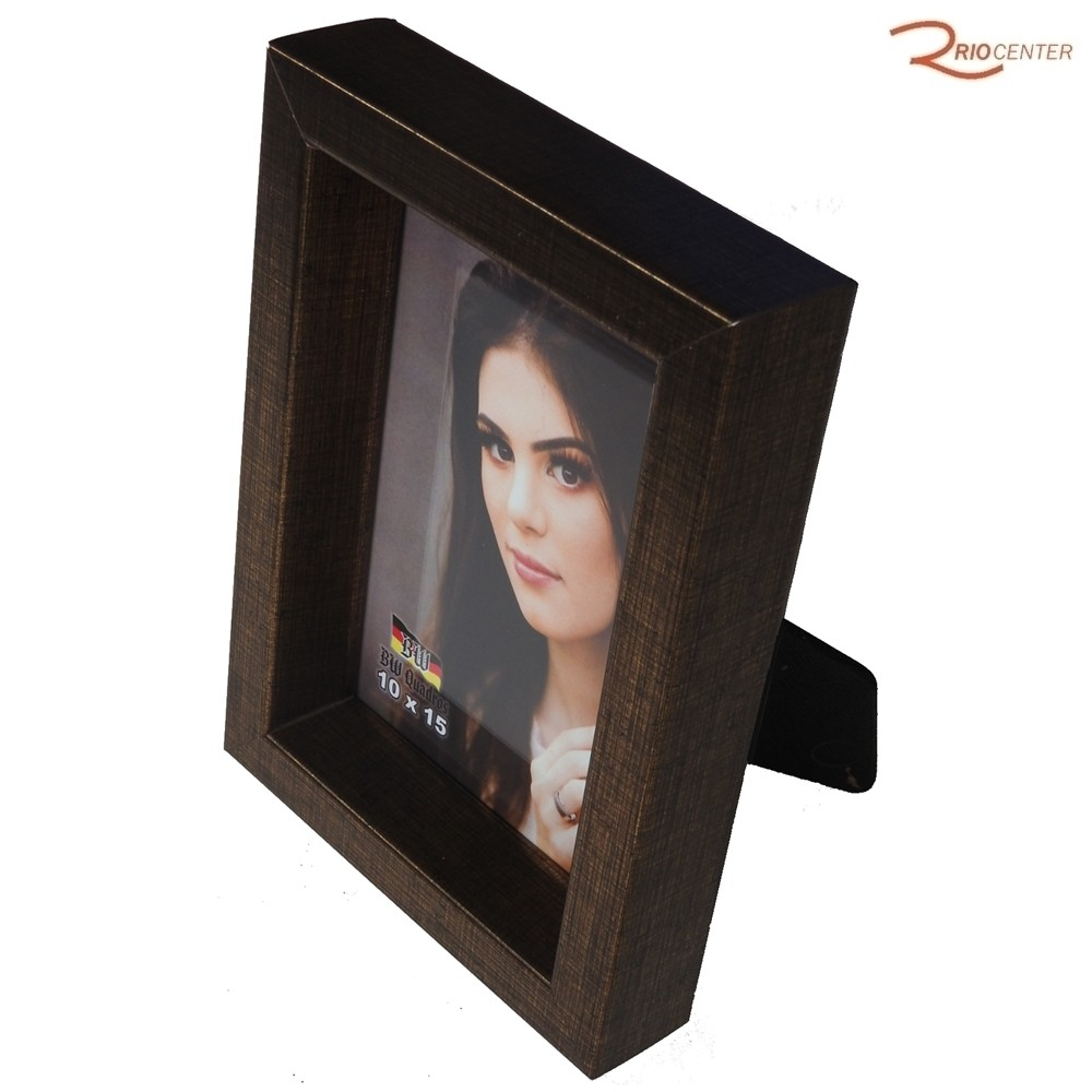 Porta Retrato BW Quadros 10x15 Borda Funda Dourada