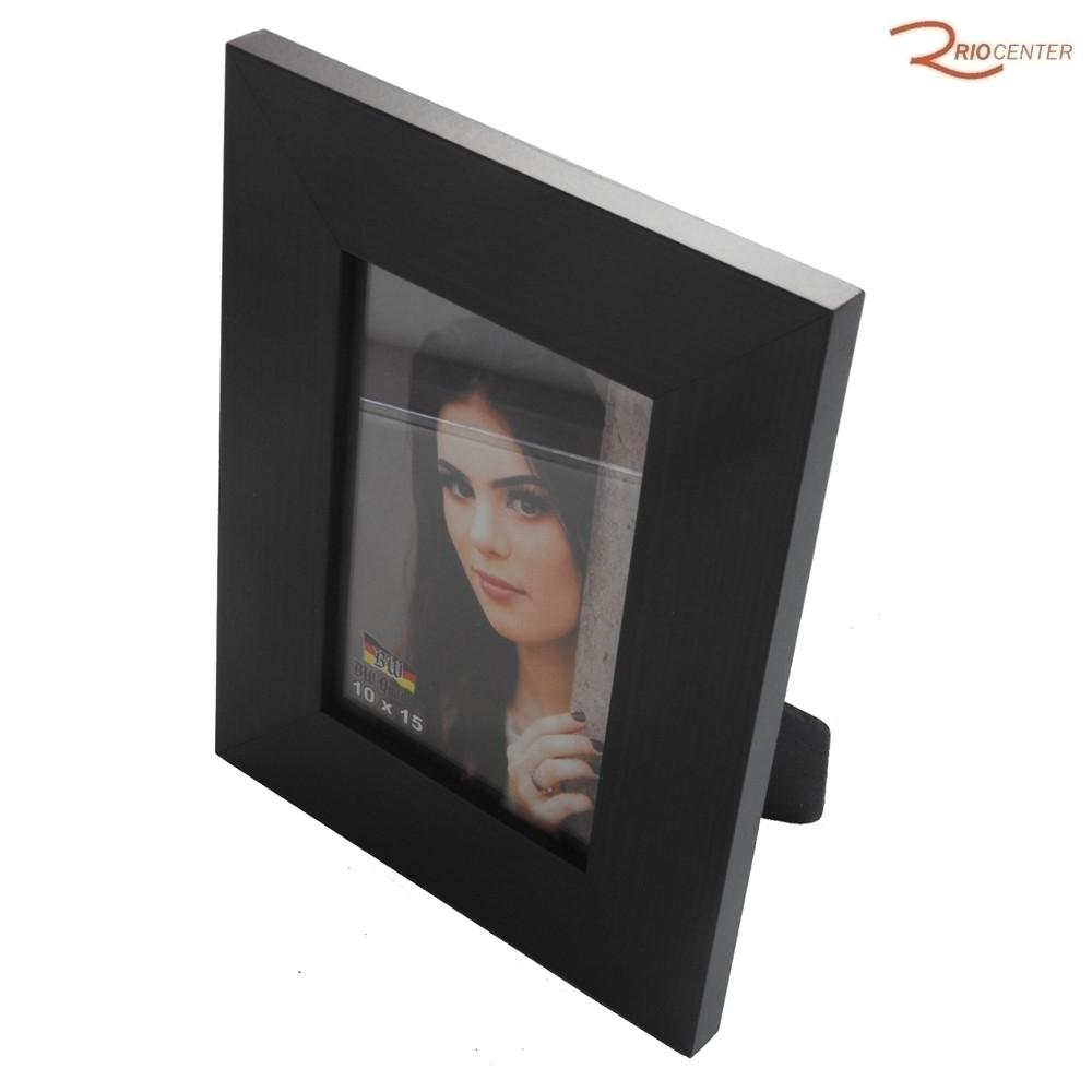 Porta Retrato BW Quadros 10x15 Borda Lisa Reta Madeira