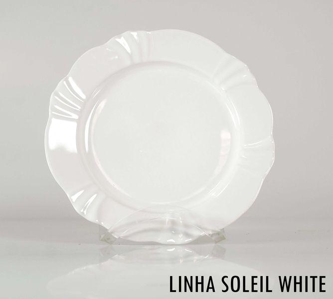 Prato de Sobremesa Oxford Linha Soleil White
