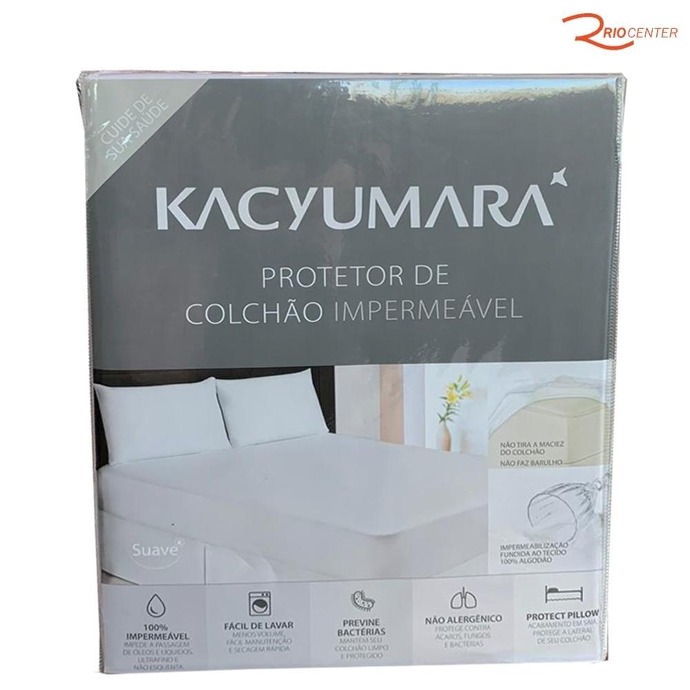 Protetor de Colchão Kacyumara Impermeável Solteiro Branco