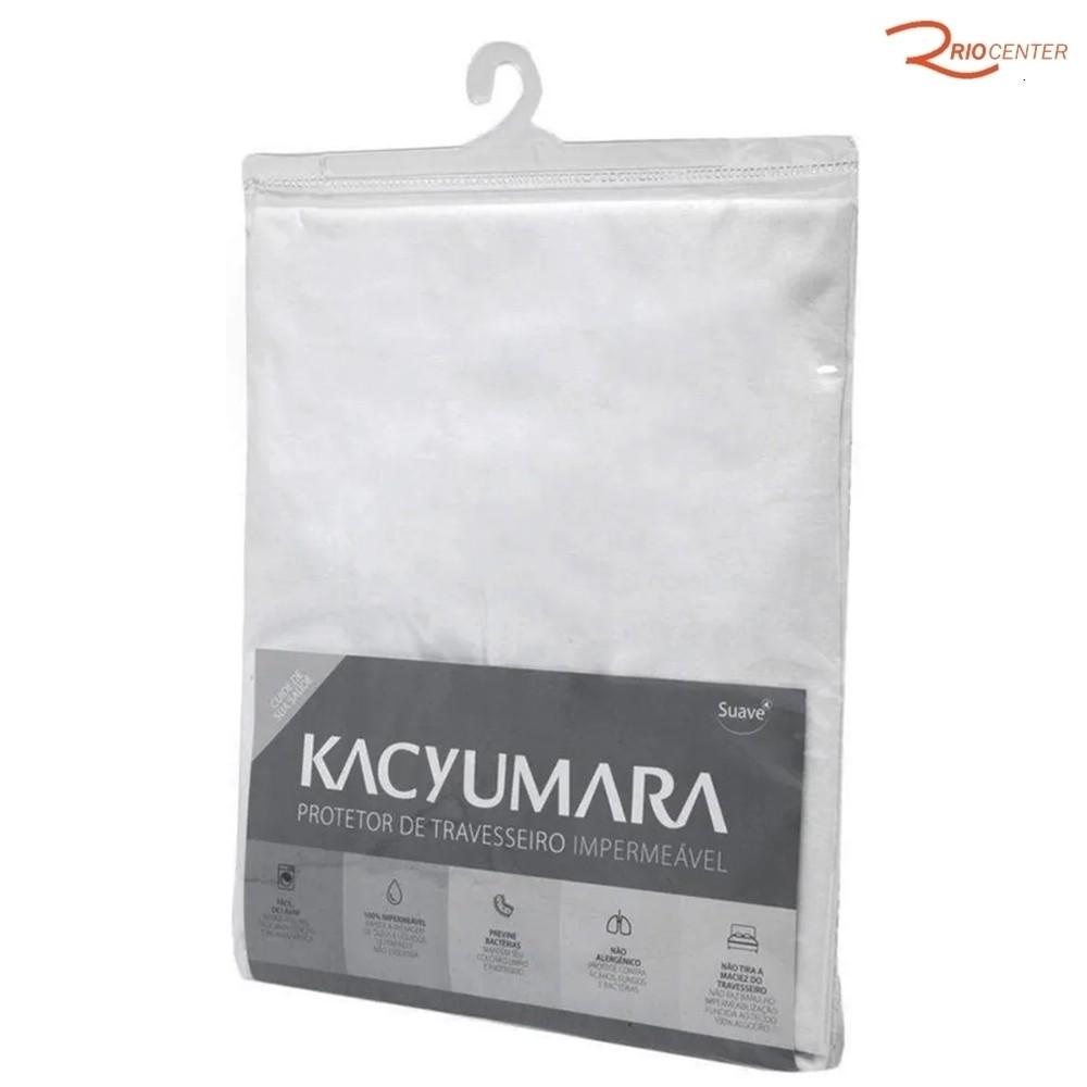 Protetor Travesseiro Kacyumara Impermeável Branco