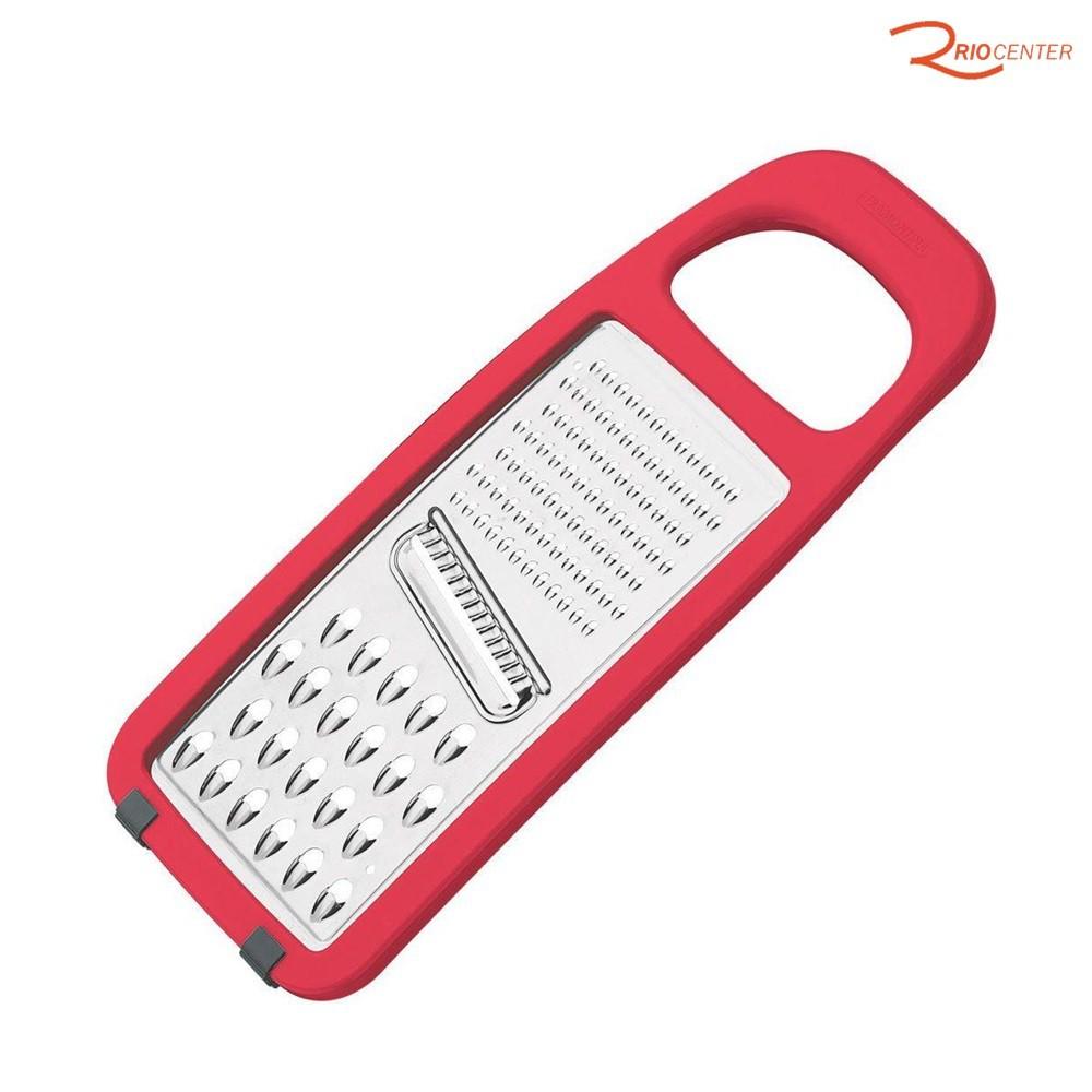 Ralador Tramontina Utilitá em Aço Inox e ABS com Base Emborrachada Vermelho