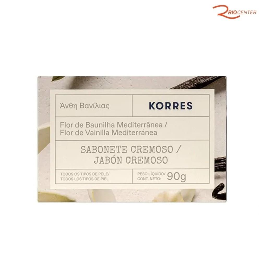 Sabonete Cremoso Korres Flor de Baunilha Mediterrânea - 90g